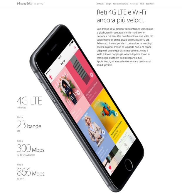iphone 6s LTE Advanced 620