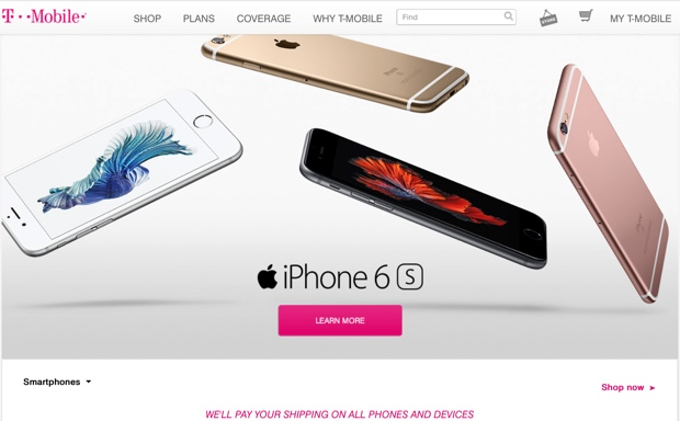 ordini iphone 6s t-mobile 620