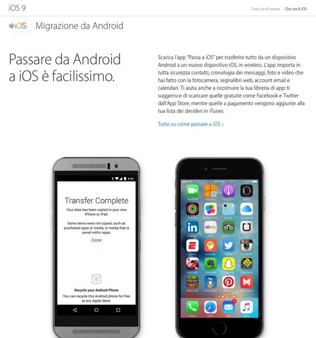 passa a ios apple per android 620