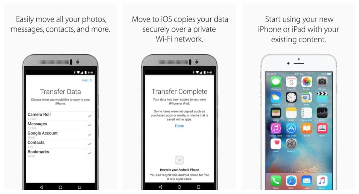 """Passa a iOS, ecco la prima app di Apple per """"rubare"""" utenti ad Android"""