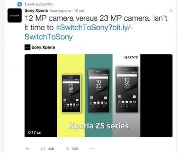 sony mobile prende in giro fotocamera iphone in un tweet