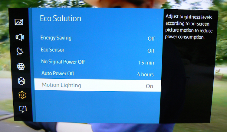 Samsung Motion Lighting Feature