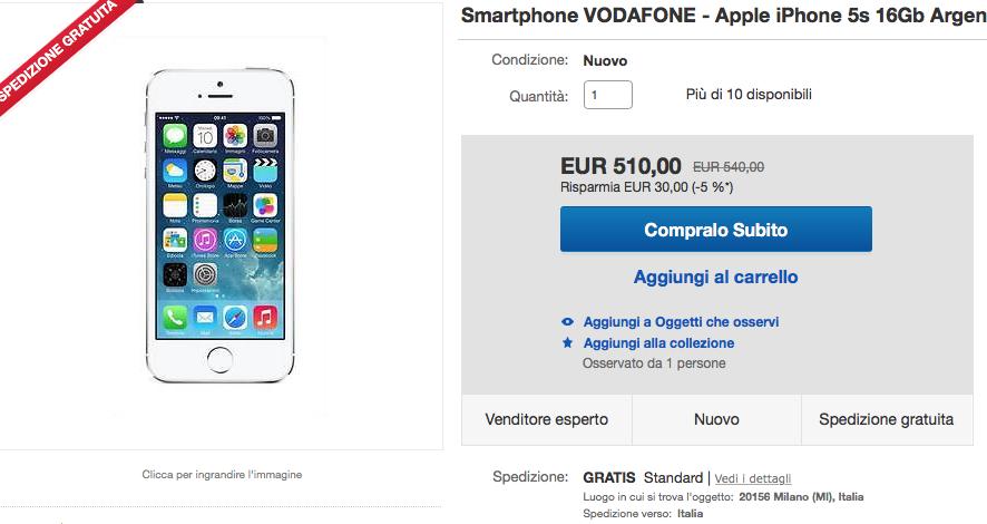 Offerta iPhone 5s