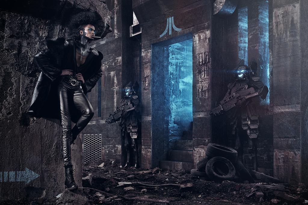 Un lavoro un po' particolare: qui gran parte dello sfondo è stato ricreato in CGI, come anche alcune parti della modella, ma assemblare in modo realistico oggetti tridimensionali e fotografici è molto più difficile del previsto