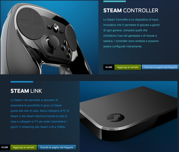 Valve Steam Controller e Link 620
