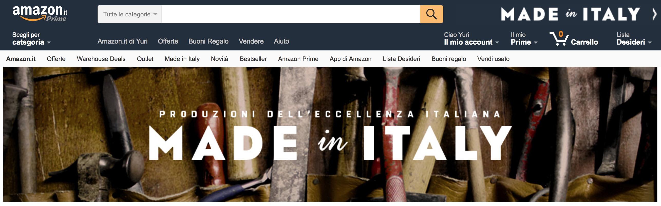 Amazon made in italy ora botteghe e artigiani italiani for Artigianato italia