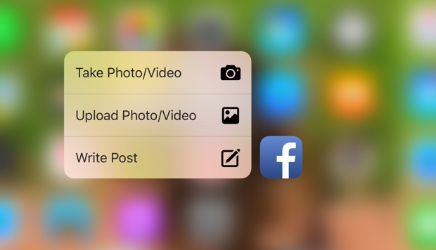 facebook su iPhone 6s