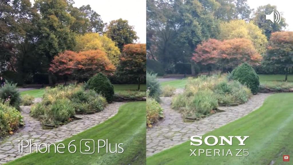 iPhone 6s Plus contro Sony Xperia Z5 1200 ok video