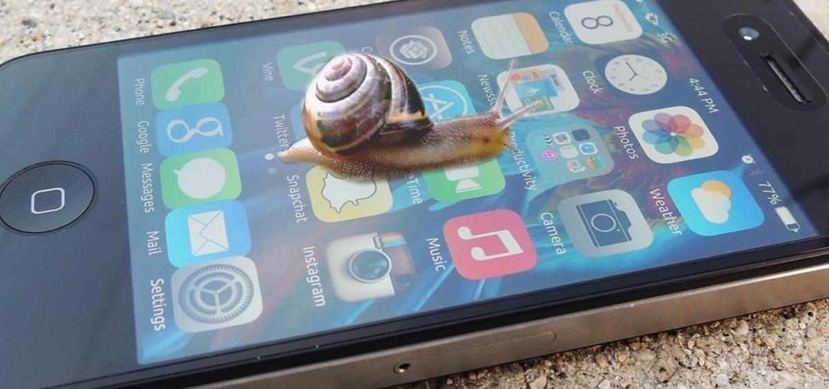 iphone e lento icon 1200 lumaca