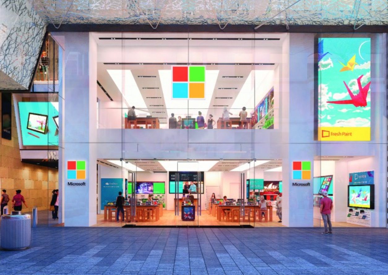 Apple e il negozio microsoft diventano vicini di casa a for Combo negozio e casa