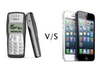 nokia 1100 vs iphone 1200