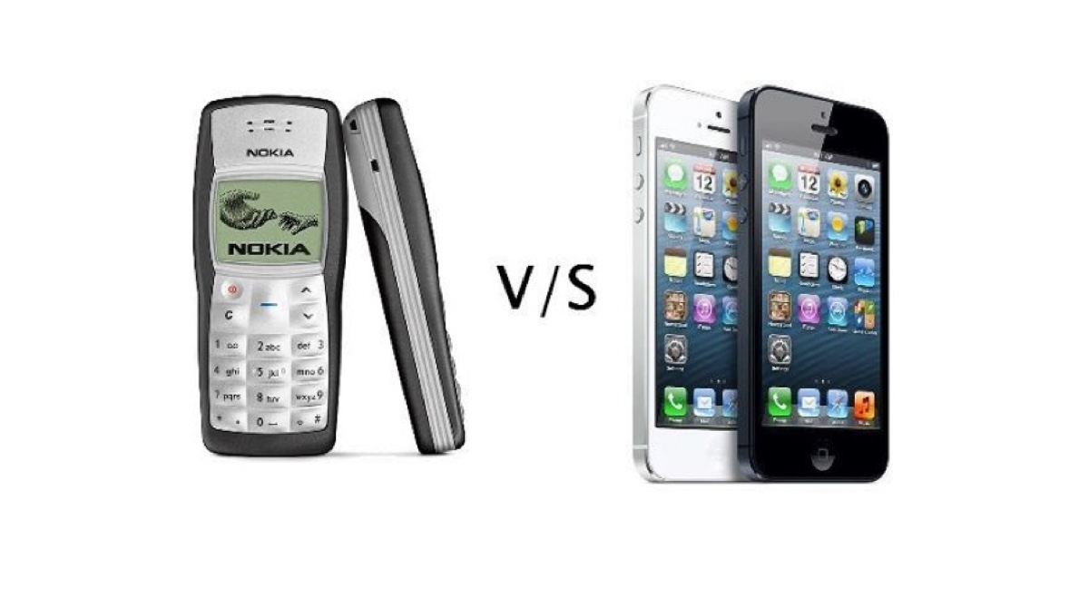 nokia 1100 vs iphone 1200