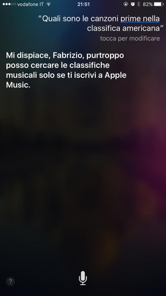siri ricatta abbonamento per apple music