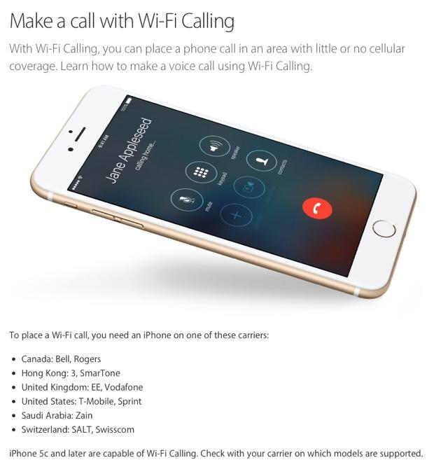 wi-fi calling iphone 620