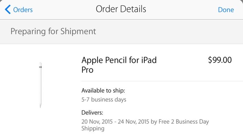 Apple pencil spedizioni