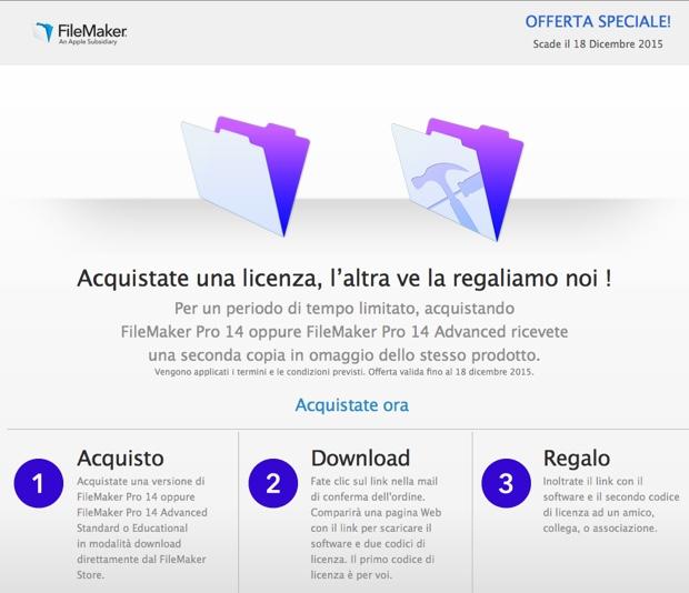 FileMaker offerta speciale 620
