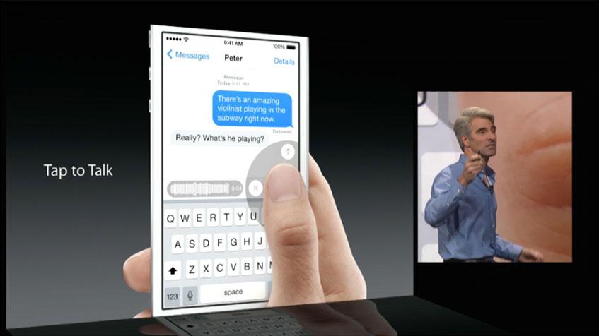 Messaggi vocali iOS