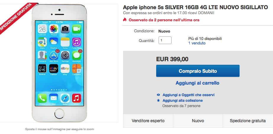 Immagini Di Natale Per Iphone 5.Ebay Scontissimi Di Natale Su Iphone 5s Solo 399 Euro 6 A 499