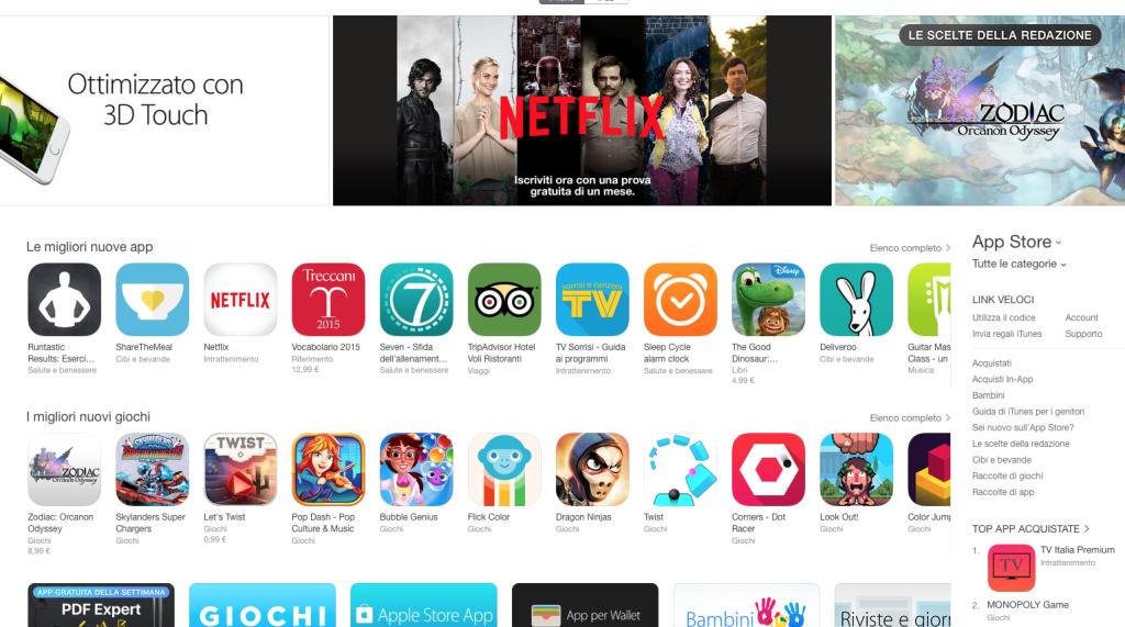 ricerca App Store