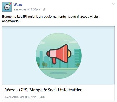 Waze Italia annuncia waze 4.0.1 per iPhone
