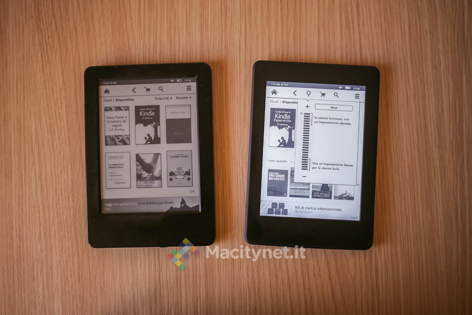 Kindle vs. Kindle Paperwhite