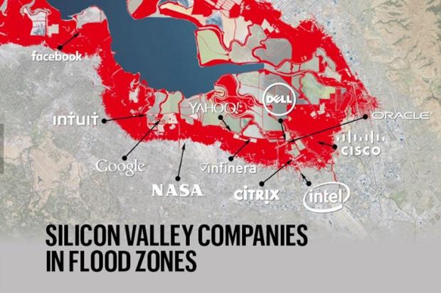 alluvioni previste sulla Silicon Valley
