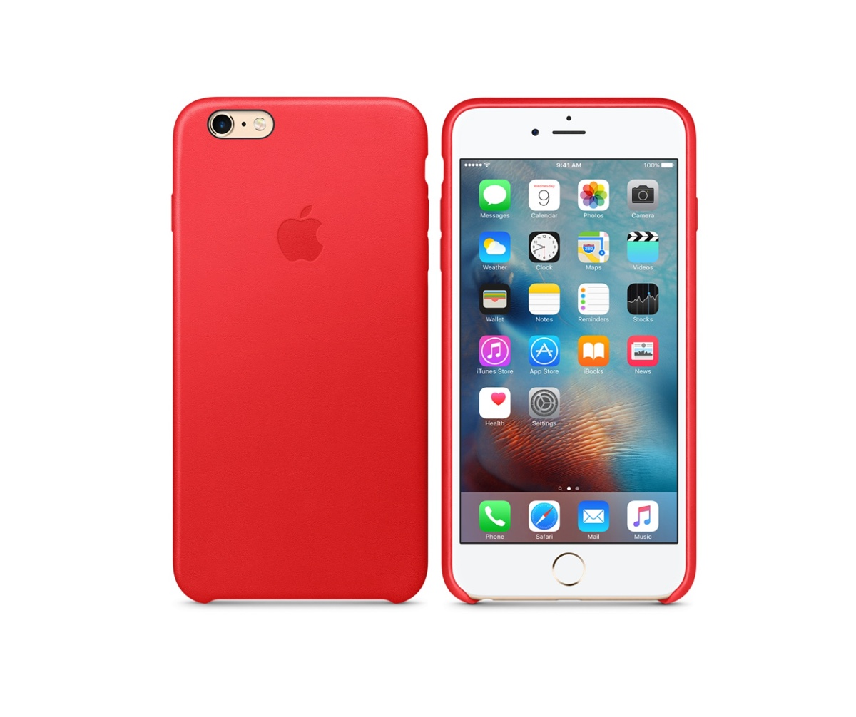 custodia pelle apple iphone 7 red