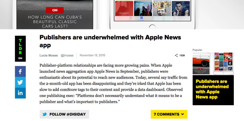 digiday su apple news
