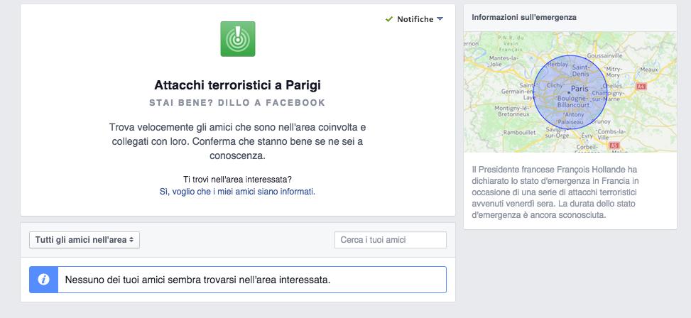 facebook attentati di parigi