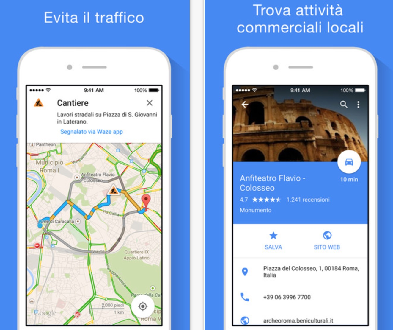 avvisi vocali sul traffico google maps