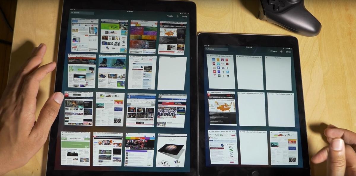 iPad Pro contro iPad Air 2 1200 1