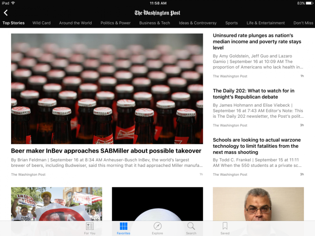apple news il washington post su
