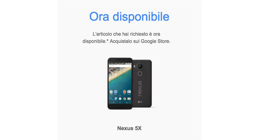 nexus 5x disponibile in italia