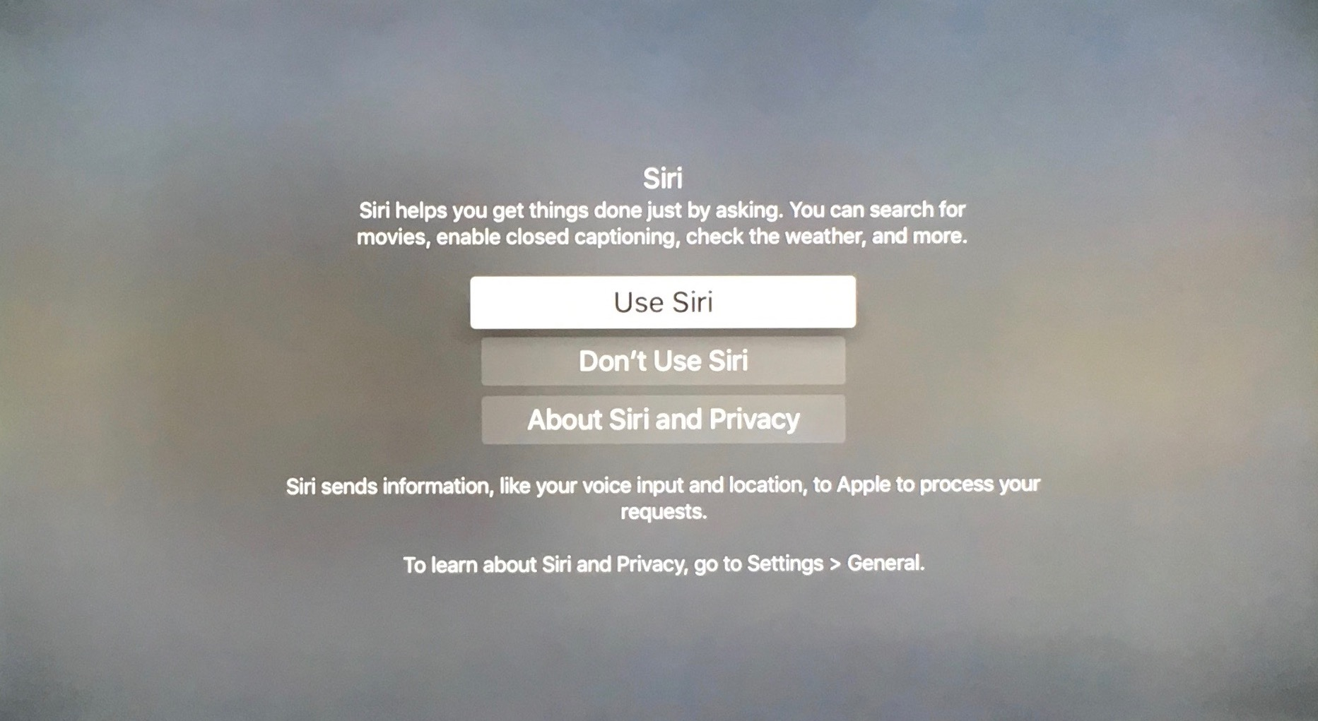 siri su Apple TV