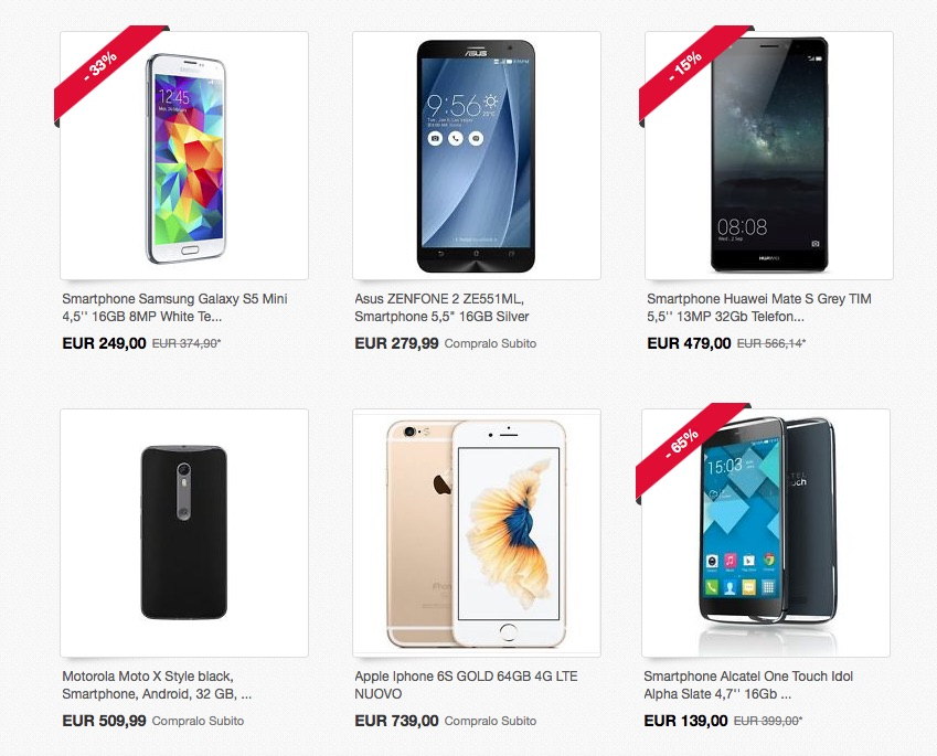 Cyber monday su Ebay telefoni