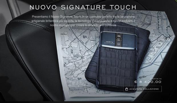 vertu signature touch 620