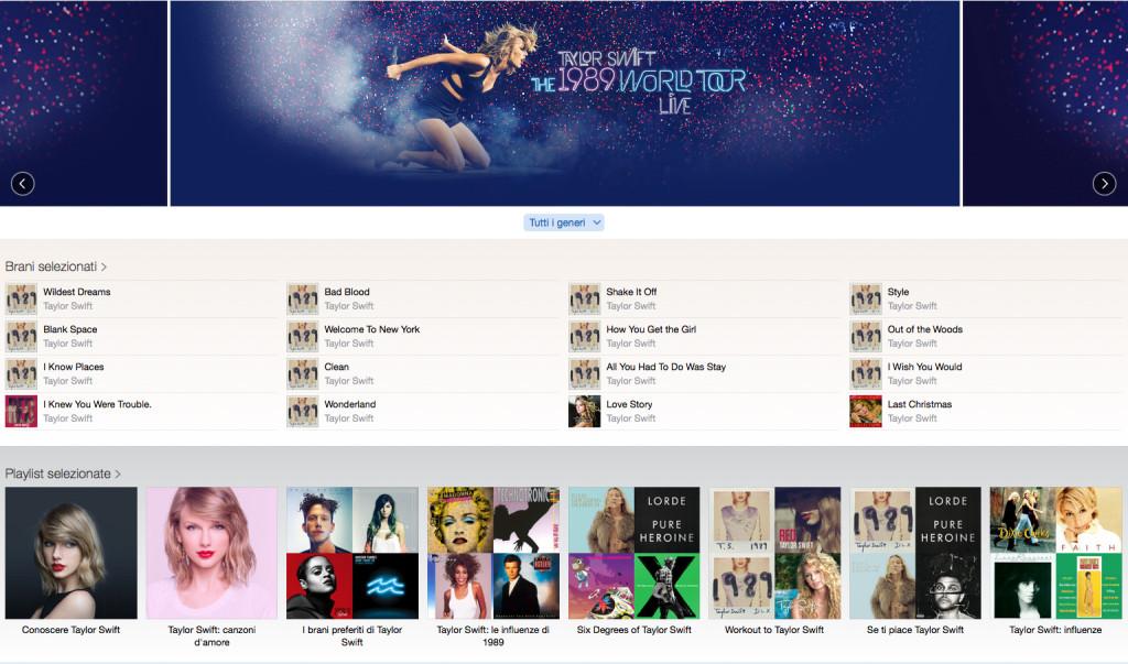 1989 World Tour Taylor Swift su Apple Music