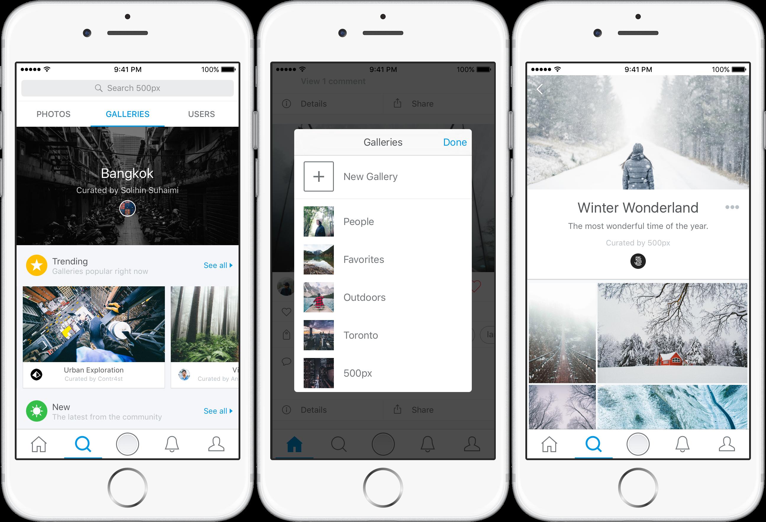 Galleries su iOS
