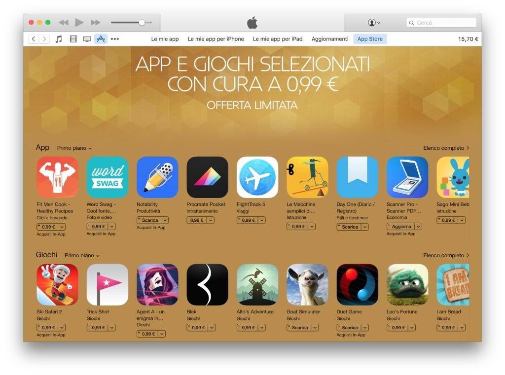 giochi selezionati da Apple