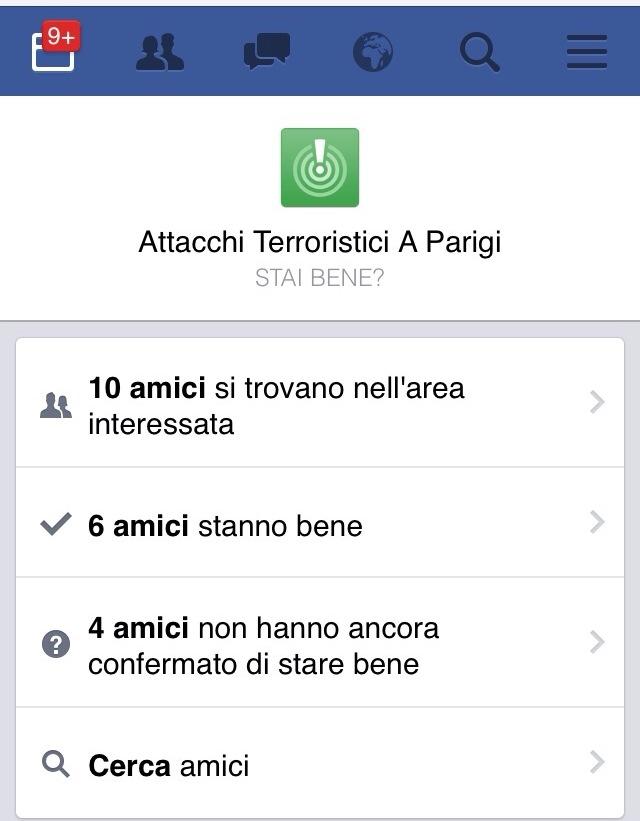 lotta al terrorismo La funzione Safety Check di Facebook