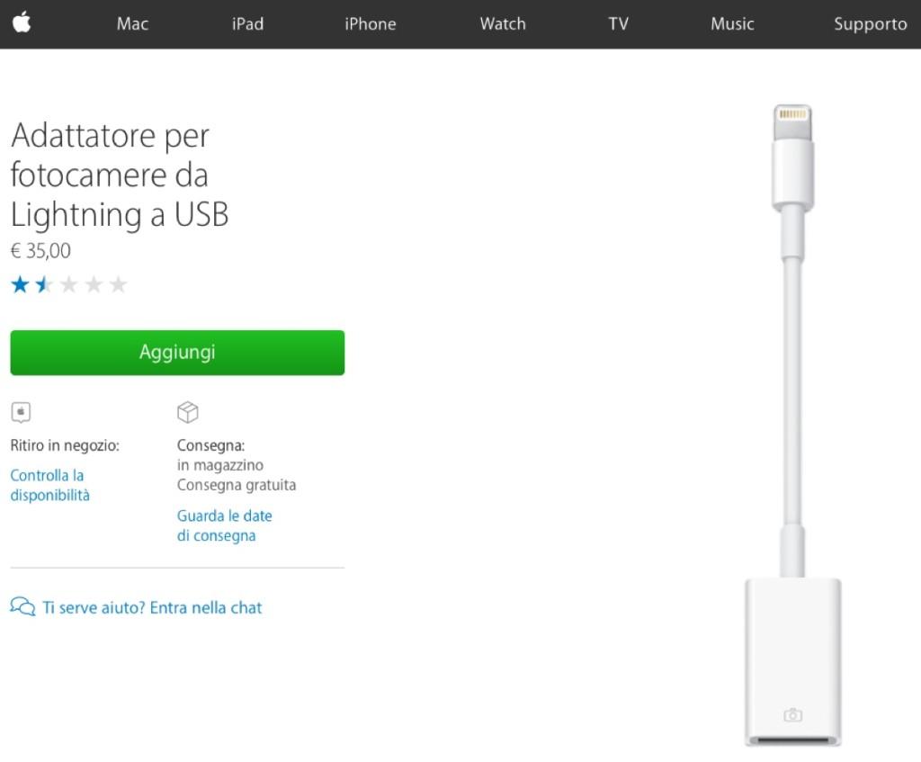 da Lightning a USB