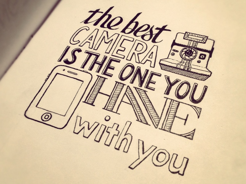 la miglior fotocamera è quella che avete sempre con voi