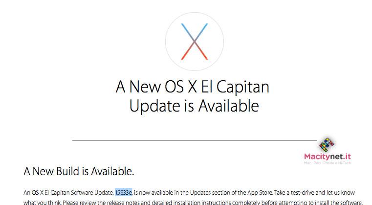 beta OS X 10.11.4