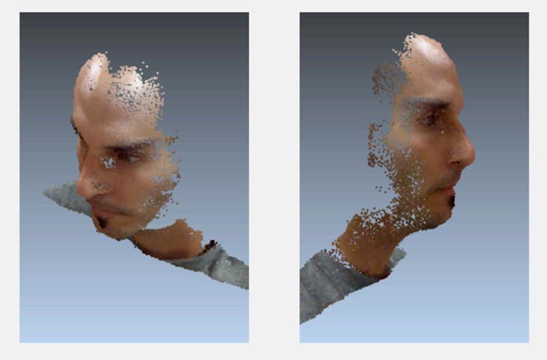 Un viso in 3D costruito partendo da un singolo scatto con le tecnologie di LinX Imaging