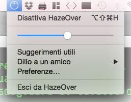 Menu Hazeover