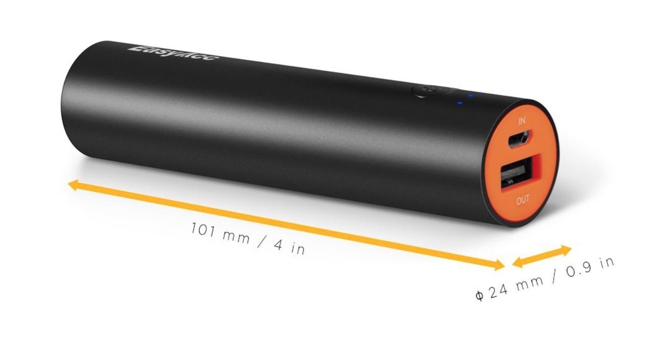 EasyAcc batteria tubetto 3