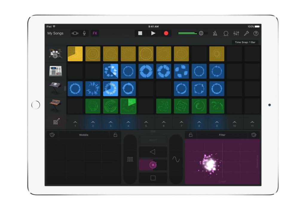 GarageBand iOS Live Loops iPad