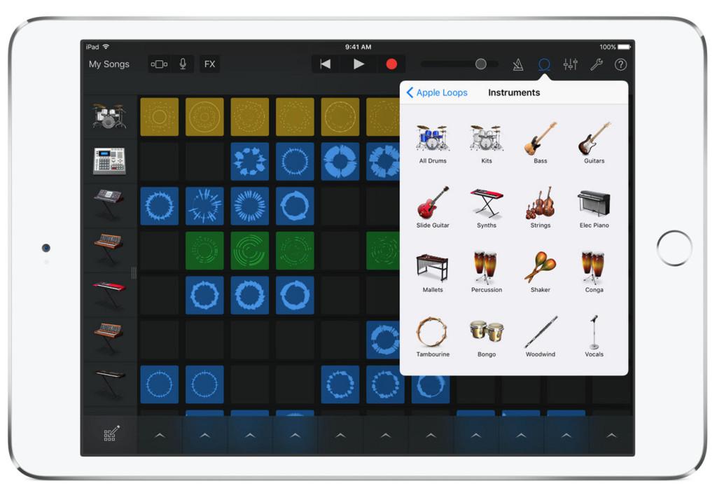 GarageBand iOS Live Loops iPad 2