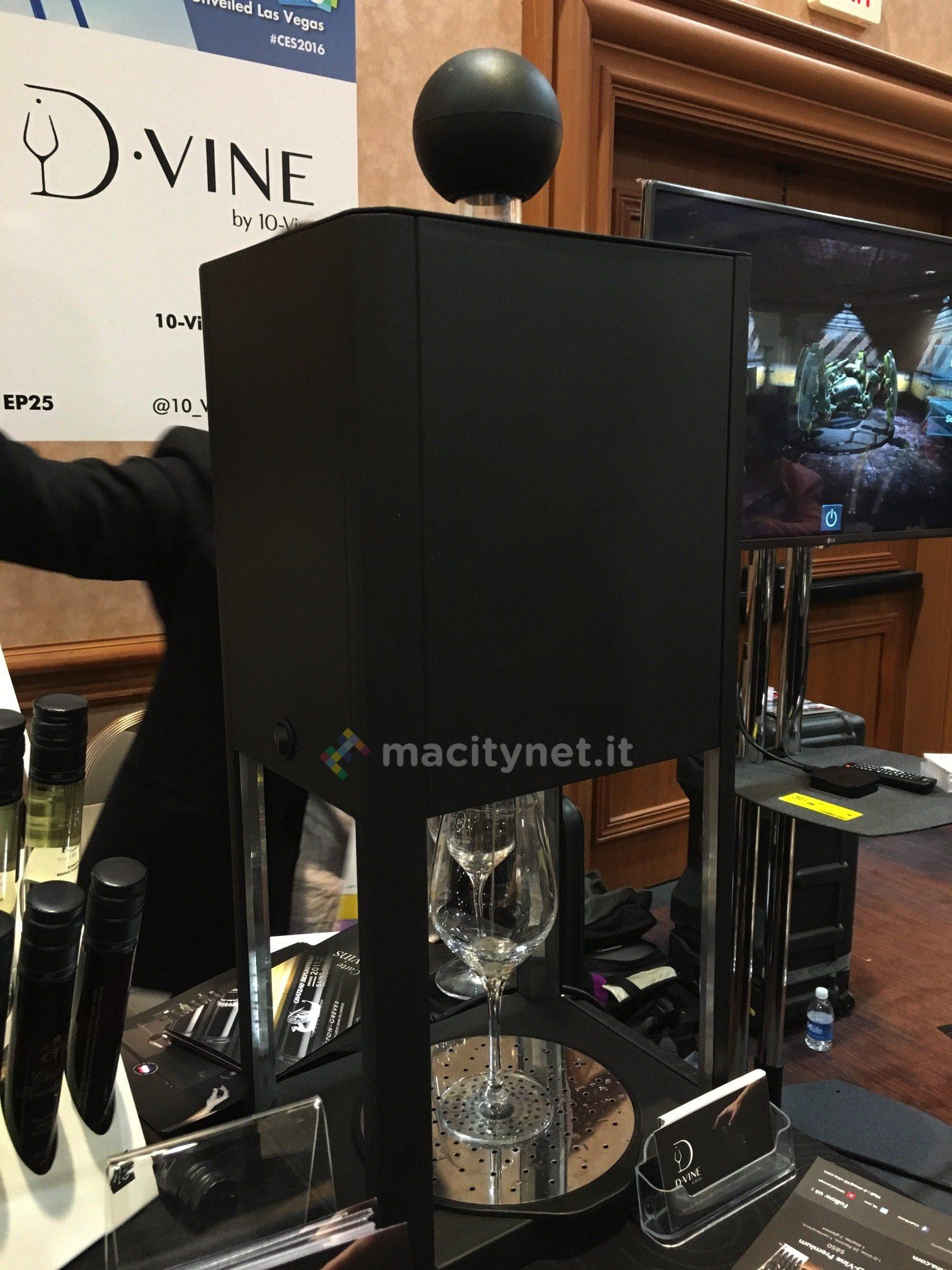 Al CES 2016 D-Vine, dopo il caffè anche il vino in capsule