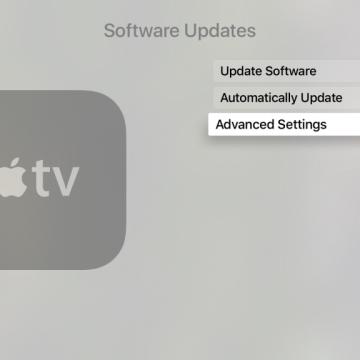 Impostazioni avanzate Apple TV